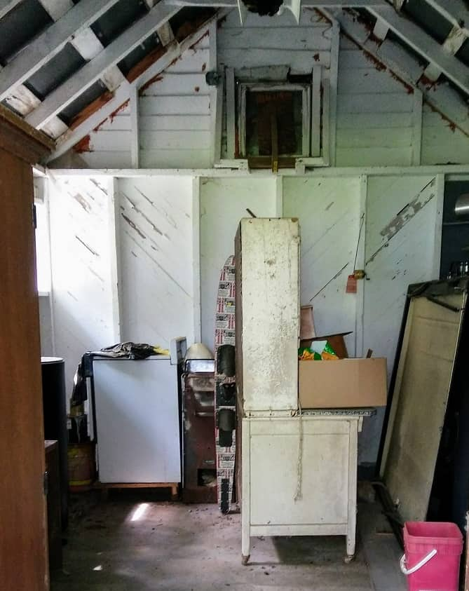 interior of old shed