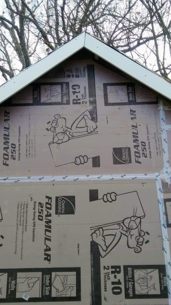 2 inch exterior foam insulation with pvc trim fascia
