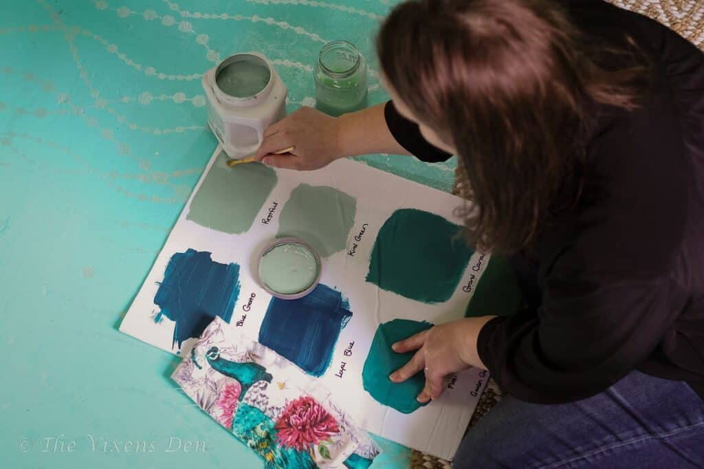 painting color boards