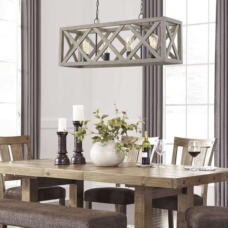 inspiration photo - rectangle chandelier