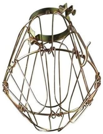 light cage used for DIY farmhouse light fixture
