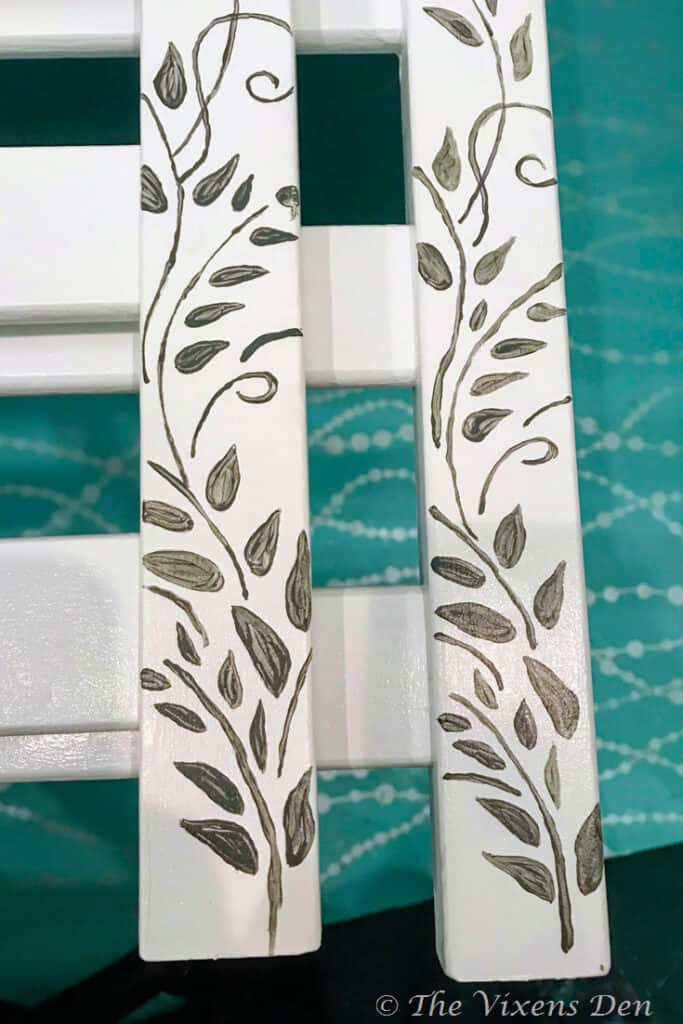 hand painted vine from stencil