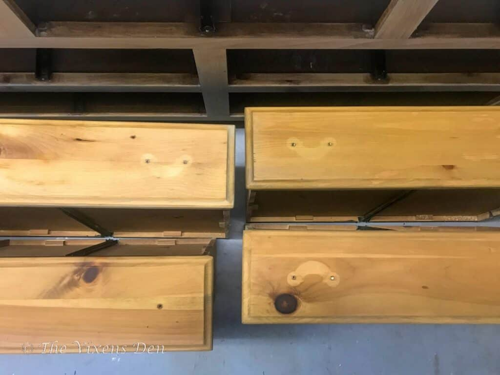 dresser drawer fronts with hardware shadows
